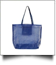 Mesh Tote Bag - DARK BLUE - CLOSEOUT