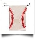 The Coral Palms® EasyStitch 2-Sided Garden Banner Flag - BASEBALL - CLOSEOUT