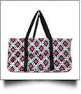 Graphic Print Tailgate & Trivia Night Wireframe Tote - BLACK TRIM - CLOSEOUT
