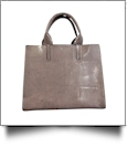 Luxurious Square Faux Leather Handbag Purse - GRAY