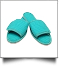 EasyStitch Cotton Waffle Spa Slippers  - CARIBBEAN GREEN