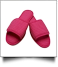 EasyStitch Cotton Waffle Spa Slippers  - FUCHSIA
