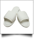 EasyStitch Cotton Waffle Spa Slippers  - WHITE