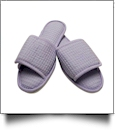 EasyStitch Cotton Waffle Spa Slippers  - LAVENDER