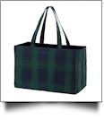 Ultimate Tote Embroidery Blank - PLAID