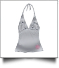 Tankini Swimsuit Top - MINI NAVY PREP STRIPE - CLOSEOUT