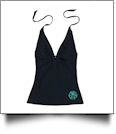 Tankini Swimsuit Top - BLACK - CLOSEOUT