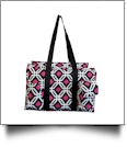 Graphic Print Garden & Craft Multi-Purpose Utility Carry-All Tote - BLACK TRIM - CLOSEOUT