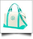 Canvas Weekender Bag Embroidery Blanks - MINT - SPECIAL PURCHASE