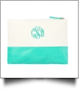 Canvas Zipper Pouch Embroidery Blanks - MINT - SPECIAL PURCHASE