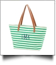 Charlotte Green Stripe Purse - SPECIAL PURCHASE