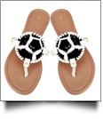 The Coral Palms� Gameday EasyStitch Medallion Sandals - SOCCER