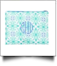 Sea Tile Zipper Pouch Embroidery Blanks - SPECIAL PURCHASE