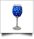 The Coral Palms® EasyStitch Zipper Wrap-Around Wine Glass Coolie - STARS
