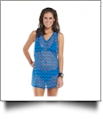Mud Pie Chevron Mesh Cover-Up in Cerulean Blue - CLOSEOUT