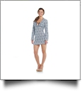 Mud Pie Totable Tunic Cover-Up in Navy Lattice - CLOSEOUT