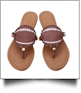 The Coral Palms� Gameday EasyStitch Medallion Sandals - FOOTBALL - CLOSEOUT