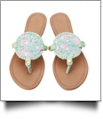 The Floridian Series EasyStitch Medallion Sandals - FUN LOVING FLAMINGOS