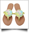 The Floridian Series EasyStitch Medallion Sandals - LIME MERMAID