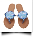 The Floridian Series EasyStitch Medallion Sandals - ROYAL BLUE MERMAID