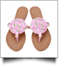 The Floridian Series EasyStitch Medallion Sandals - RAVISHING ROSES