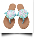 The Floridian Series EasyStitch Medallion Sandals - SEAHORSES