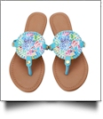 The Floridian Series EasyStitch Medallion Sandals - RAINBOW CORAL