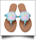 The Floridian Series EasyStitch Medallion Sandals - PASTEL CORAL