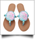 The Floridian Series EasyStitch Medallion Sandals - SCALLOP SHELL