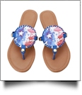 The Floridian Series EasyStitch Medallion Sandals - PATRIOTIC