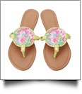 The Floridian Series EasyStitch Medallion Sandals - HIDDEN FLAMINGO