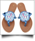 The Floridian Series EasyStitch Medallion Sandals - OCEAN SAILING