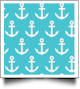 Anchor Print QuickStitch Embroidery Paper - One 8.5in x 11in Sheet - AQUA