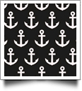 Anchor Print QuickStitch Embroidery Paper - One 8.5in x 11in Sheet - BLACK - CLOSEOUT