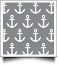 Anchor Print QuickStitch Embroidery Paper - One 8.5in x 11in Sheet - GRAY