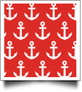 Anchor Print QuickStitch Embroidery Paper - One 8.5in x 11in Sheet - RED - CLOSEOUT