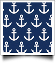 Anchor Print QuickStitch Embroidery Paper - One 8.5in x 11in Sheet - NAVY