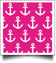 Anchor Print QuickStitch Embroidery Paper - One 8.5in x 11in Sheet - HOT PINK