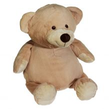 "Embroidery Buddy Stuffed Animal - Mister Buddy Bear 14"" - BROWN"