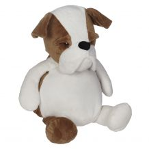 Embroidery Buddy Stuffed Animal - Buster Bulldog 16""