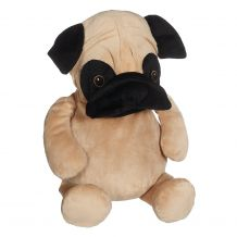 Embroidery Buddy Stuffed Animal - Parker Pug 16""