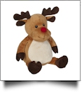 Embroidery Buddy Stuffed Animal - Randy Reindeer 16""