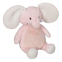 "Embroidery Buddy Stuffed Animal - Ellie Elephant 16"" - PINK"