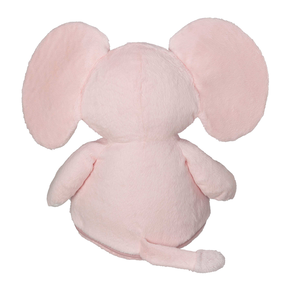 Embroidery Buddy Stuffed Animal Ellie Elephant 16 Pink