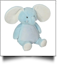 "Embroidery Buddy Stuffed Animal - Ellie Elephant 16"" - BABY BLUE"