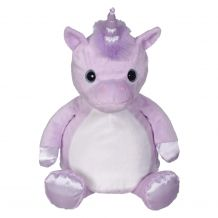 "Embroidery Buddy Stuffed Animal - Violette Unicorn 16"" - VIOLET"