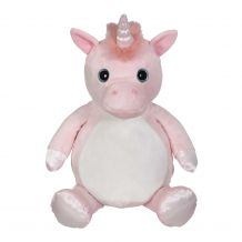"Embroidery Buddy Stuffed Animal - Whimsy Unicorn 16"" - PINK"