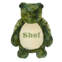 "Embroidery Buddy Stuffed Animal - Shel Turtle 16"" - GREEN"