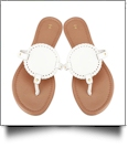 The Coral Palms� EasyStitch Medallion Sandals - WHITE