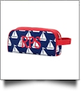 Toiletry Bag Embroidery Blanks - SAIL AWAY - CLOSEOUT